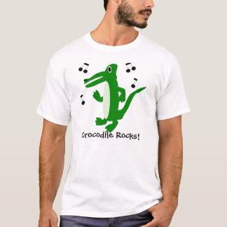 Le crocodile ajoutent juste le texte t-shirt