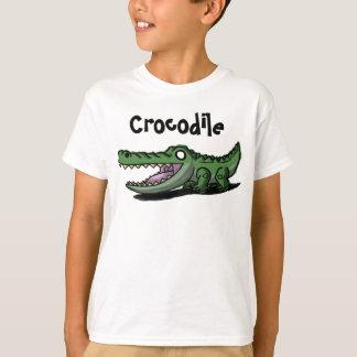 Le crocodile badine la chemise t-shirt