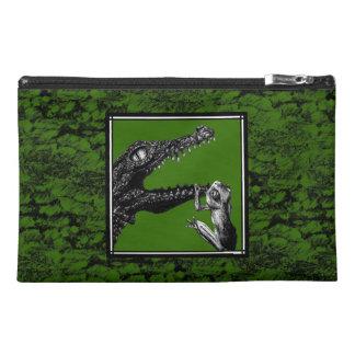 Le crocodile et la grenouille trousse à accessoires de voyage