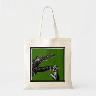 Le crocodile et la grenouille sac en toile budget