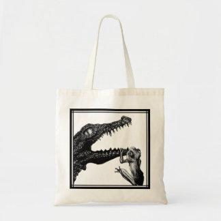 Le crocodile et la grenouille sac de toile