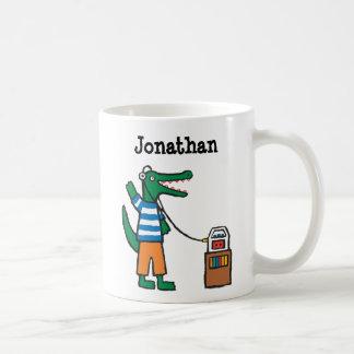 Le crocodile frais écoute la musique mug