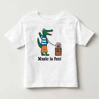 Le crocodile frais écoute la musique t-shirt pour les tous petits