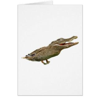 Le Crocoduck Carte De Vœux