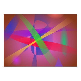 Le croisement raye l art abstrait de Brown Bristol Personnalisé