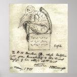 Le croquis 1934 de Lovecraft Posters