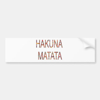 Le cru africain colore Hakuna Matata. Autocollant De Voiture