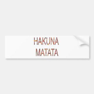 Le cru africain colore Hakuna Matata.jpg Autocollant De Voiture