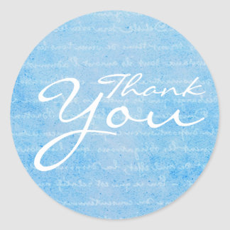 Le cru bleu et blanc a inspiré le Merci Sticker Rond