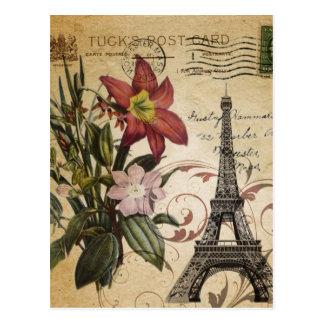 Le cru botanique de lis scripts Tour Eiffel de Carte Postale