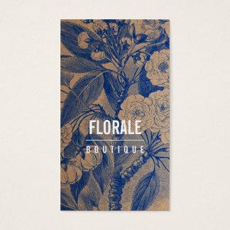 Le cru chic moderne de papier brun fleurit la cartes de visite