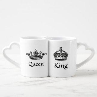 Le cru couronne la reine/tasses de roi LOVE Mug