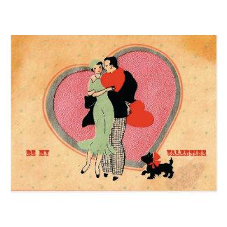 Le cru de ~ d'art déco soit mon Valentine Carte Postale