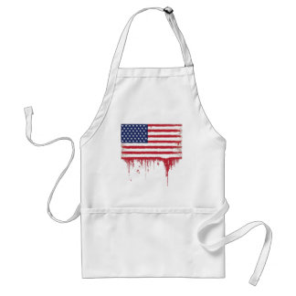 Le cru de drapeau américain éclabousse tablier