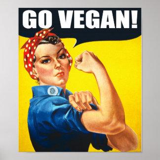 Le cru disparaissent affiche végétalienne posters