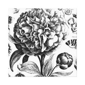 Le cru fleurit gravure à l'eau-forte toiles