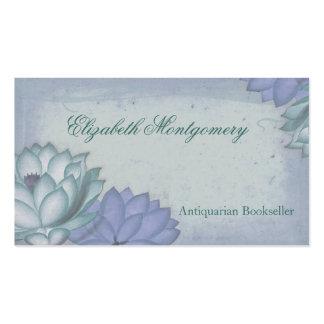 Le cru fleurit les cartes de visite professionnels modèle de carte de visite