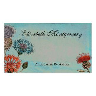 Le cru fleurit les cartes de visite professionnels carte de visite standard