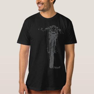 Le cru frontal de coureur de café a dénommé la t-shirt