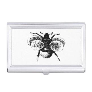 Le cru gaffent l abeille boîtiers pour cartes de visite