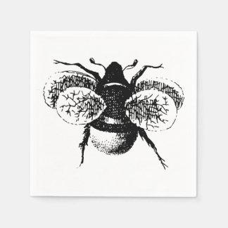 Le cru gaffent l abeille serviettes jetables