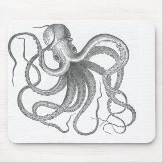 Le cru nautique de poulpe de steampunk kraken le tapis de souris