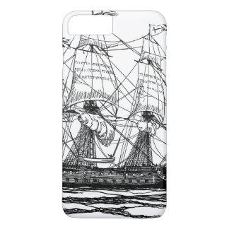 Le cru pirate le galion, croquis d'un bateau coque iPhone 8 plus/7 plus