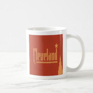Le cru raye la tasse de café de Cleveland Ohio