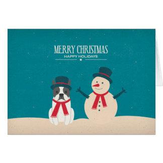 Le cru RENIFLENT la carte de Noël de Boston