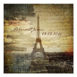 le cru scripts le mariage de Tour Eiffel de Paris Photographies