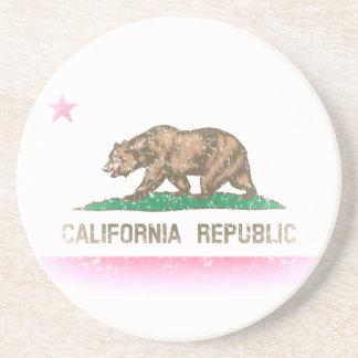 Le cru se fanent drapeau de la Californie Dessous De Verres