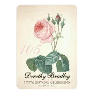 Le cru s'est levé la 105th coutume de célébration carton d'invitation  12,7 cm x 17,78 cm