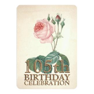 Le cru s'est levé la 105th coutume de célébration cartons d'invitation