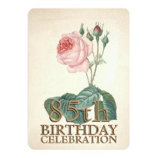 Le cru s'est levé la 85th coutume de célébration invitations personnalisées