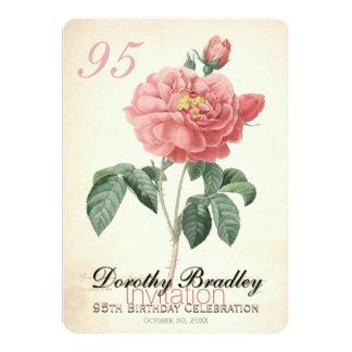 Le cru s'est levé la quatre-vingt-quinzième carton d'invitation  12,7 cm x 17,78 cm
