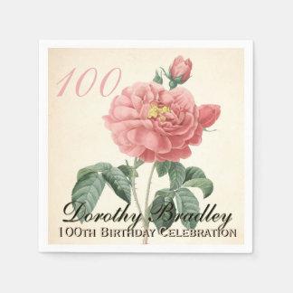 Le cru s'est levé les 100th serviettes de papier