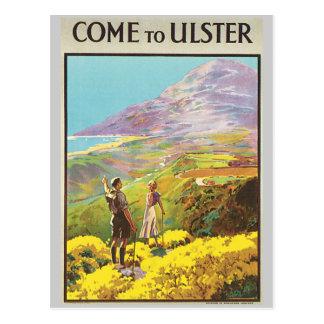 Le cru viennent à l'affiche de voyage d'îles brita carte postale