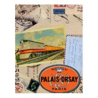 Le cru voyage carte postale