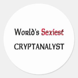 Le Cryptanalyst le plus sexy du monde Autocollant Rond