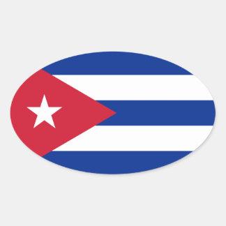 Le Cuba/drapeau cubain Sticker Ovale