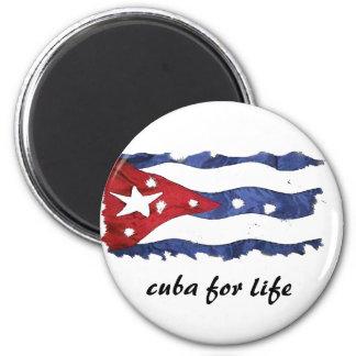 le Cuba pour l'aimant de la vie Magnet Rond 8 Cm