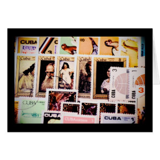 Le Cuba, timbres-poste vintages, cartes de voeux