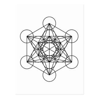 Le cube de Metatron (blanc) Carte Postale