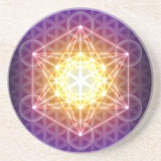 Le cube/fleur de Metatron de la vie Dessous De Verres