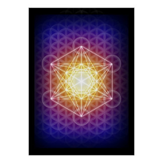 Le cube/fleur de Metatron de l'affiche de la vie Posters