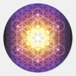 Le cube/fleur de Metatron de l'autocollant de la v