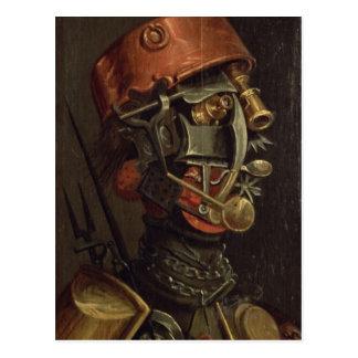 Le cuisinier (huile sur le panneau) carte postale
