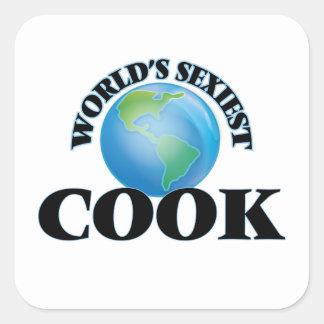 Le cuisinier le plus sexy du monde sticker carré