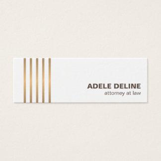 Le cuivre propre chic minimaliste raye la mini carte de visite