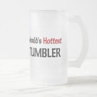Le culbuteur le plus chaud du monde frosted glass beer mug